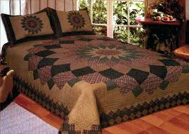 Country Primitive Quilt Sets Primitive Country Quilts Bedding ... & ... Primitive Country Quilt Fabric Country Primitive Quilt Sets Alexandra  Dahlia Queen Quilt Set 2 Shams Country ... Adamdwight.com