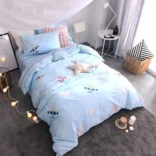 airplane comforter set character blue airplane bedding set teen full queen king cotton cartoon home textile airplane comforter