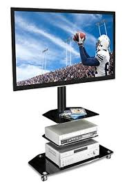 mobile tv stand with mount. MountIt Mobile TV Stand With Rolling Casters ThreeTiered Glass And Tv Mount