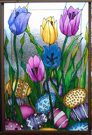 glass colour etching designs flowers