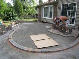 image concrete patio shapes ideas