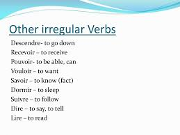 Vouloir Verb Chart Ppt Verb Conjugation Powerpoint Presentation Free