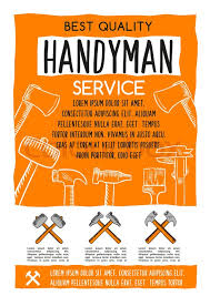 the grinder poster. handyman service poster for home repair or house renovation. vector design of carpentry, plastering and woodwork work tools hammer, ruler trowel the grinder