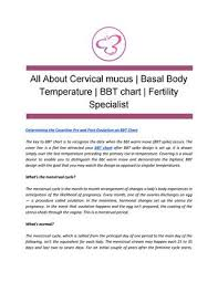 Cervical Mucus Chart Example All About Cervical Mucus Basal Body Temperature Bbt