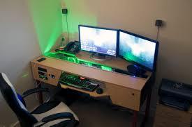 amazing of custom computer desk ideas with custom desk with pc built in gaming battlestation via reddit