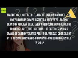 how many carbs are in coors light beer