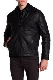 image of perry ellis genuine leather jacket