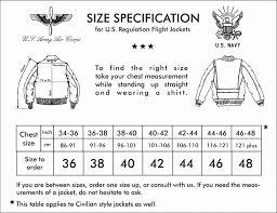 46 Regular Size Chart Size Charts Bill Kelso Mfg