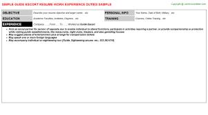 Escort Resume Stunning Escort Resume Patient Choice Image Format Examples 28 Tommybanks