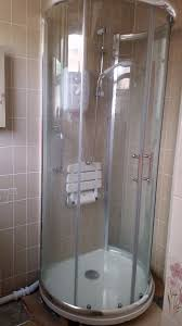 round shower cubicle and base