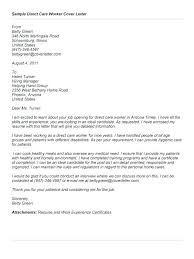 Direct Care Worker Cover Letter 2 Week Notice For A Job 3 Notice Format