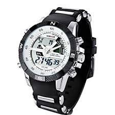 new fashion weide mens sports watch analog digital dual time lcd new fashion weide mens sports watch analog digital dual time lcd backlight wh 1104 1 watch gift box white dial amazon co uk luggage