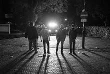 youths standing in front of police in haren netherlands during a project x inspired party in 2016 called project x haren
