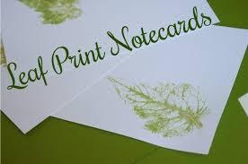 Earthy Leaf Print Notecards Lets Get Crafty Diy