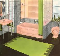 The early 1950s saw an explosion of bathrooms with pink toilets, tubs, and  sinks
