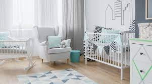 gray and teal nursery