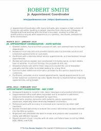Nhs Resume Examples Appointment Coordinator Resume Samples Qwikresume