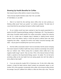 brewing up health benefits for coffee