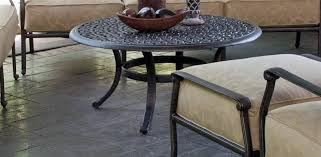 handcrafted from aluminum our tables are the anchor of our casual collections
