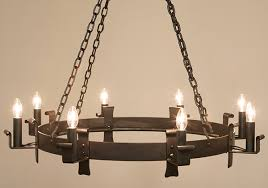 midhope 8 light wrought iron chandelier