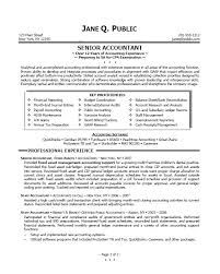Example Of Accounting Resume Magnificent Accountant Resume Example Sample Senior Objective Creerpro