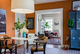 Painting adjoining rooms different colors Connecting Orange Dining Room Freshomecom 10 Things You Should Know Before Painting Room Freshomecom