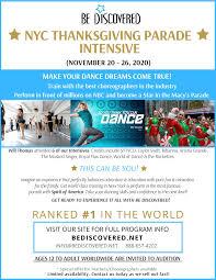 2020 NYC Thanksgiving Parade Intensive