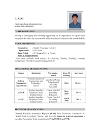 Ravi Resume BTech Mech New Resume B Tech