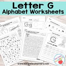 Letter G Worksheets - Alphabet Series - Easy Peasy Learners