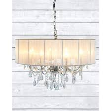 chandelier with shade chrome 8 branch chandelier with white shade 6 inch chandelier drum shades