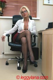 Sexy mature bosses in stockings tube