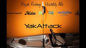 Kayak Flag Light Yakattack Visicarbon Pro 360 Degree Led Kayak Fishing Visibility Flag