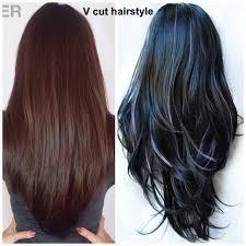 The V Cut Hairstyle Hair สผม