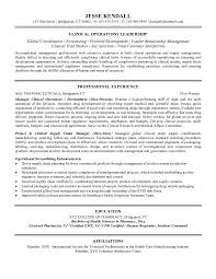 operations manager cv free clinical operations manager resume example