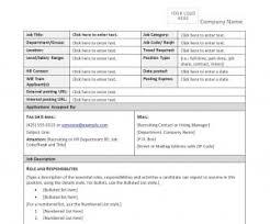 Work Description Form Job Description Form Template Job Description Form