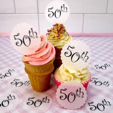 50th Birthday Cake Toppers And Decorations