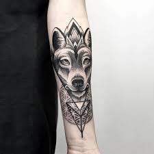 Blackwork Wolf Wrist Tattoo Otheser Saketattoocrew Sake Tattoo Crew