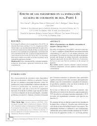 Efecto De Los Par Metros En La Extracci N Pdf Download Available