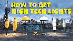 high tech lighting. fallout 4 how to get high tech lights for settlements picket fenses magazine guide lighting