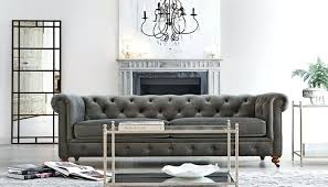Ashley Tufted Sofa Grey Luxury Off Furniture  Leather D0