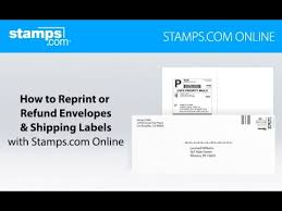 Online Shipping Labels How To Reprint Or Refund Envelopes Shipping Labels Stamps Com