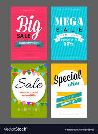 sale flyers big sale flyers template royalty free vector image