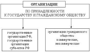 Виды и типы организаций Реферат Классификация организаций по принципу принадлежности к основным структурным элементам общества