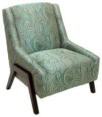Blue Pattern Accent Chair Cool Bonita Green Blue Swirl Pattern Fabric Accent Chair Light Blue