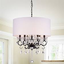 warehouse of tiffany ninian 6 light chandelier with fabric drum shade