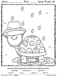 Coloring Pages Spring Color By Number April Spring Showers