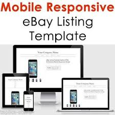 Listing Template Template Ebay Listing Design Mobile Professional Responsive Auction