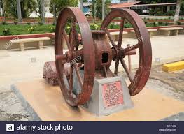 first electric generator. Antique Vintage Electrical Generator As Seen In The Central Plaza Of Santiago Veraguas, Panama First Electric I