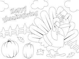 Happy Thanksgiving Color Pages Contentparkco