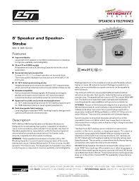 8 speaker and speaker strobe canadian fire alarm association